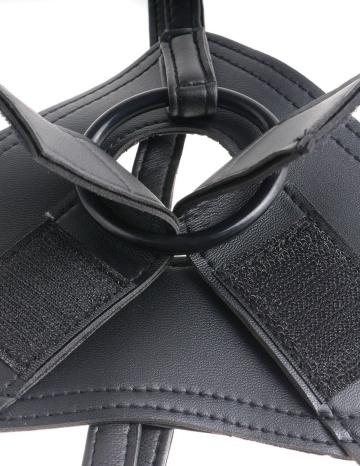 Страпон на виниловых трусиках Strap-on Harness Cock - 17,8 см.