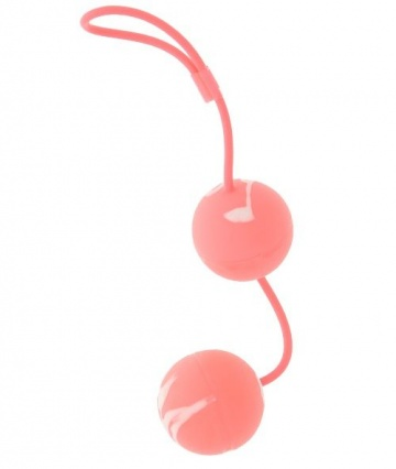 Вагинальные мягкие шарики MARBILIZED DUO BALLS PINK
