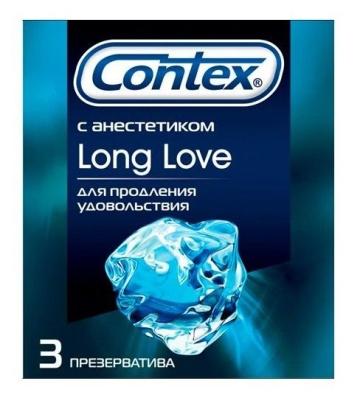 Презервативы с продлевающей смазкой Contex Long Love - 3 шт.