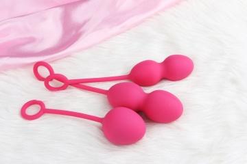 Набор розовых вагинальных шариков Nova Ball со смещенным центром тяжести