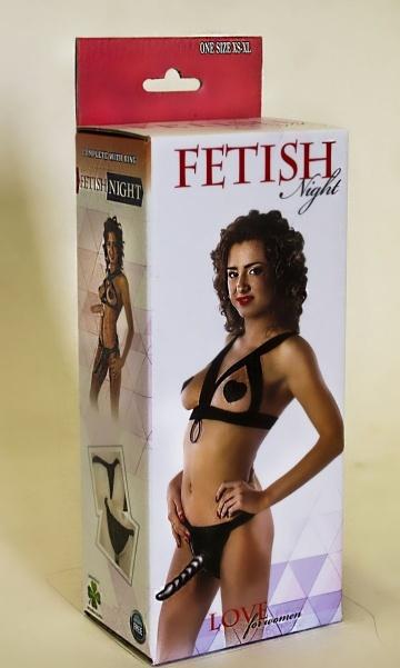 Костюм БДСМ Fetish Night с анальной насадкой длиной 18 см.