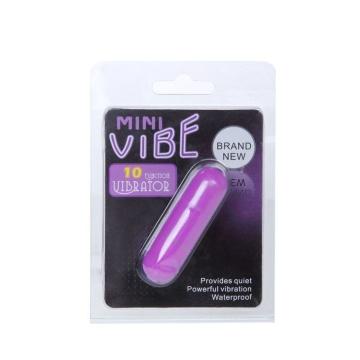 Фиолетовая вибропуля с 10 режимами вибрации