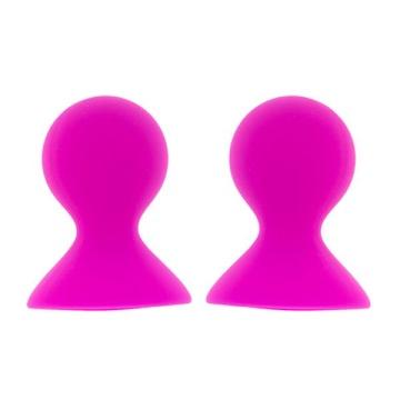 Ярко-розовые помпы для сосков LIT-UP NIPPLE SUCKERS LARGE PINK