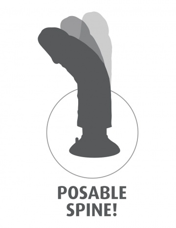 """Телесный виброфаллос со съемной присоской 9"""" Vibrating Cock with Balls - 22,9 см."""