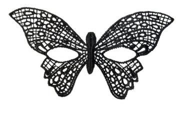Нитяная маска в форме бабочки