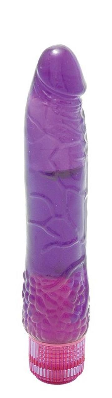 Водонепроницаемый фиолетовый вибромассажер H2O PATRIOT WATERPROOF VIBRATOR - 19 см.
