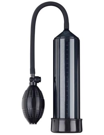 Чёрная вакуумная помпа Eroticon PUMP X1 с грушей