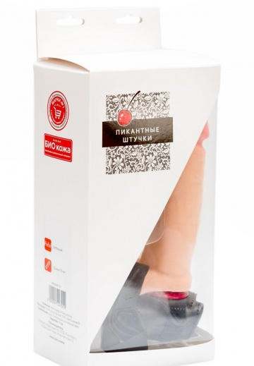 Женский страпон с реалистичной насадкой-фаллосом - 18 см.