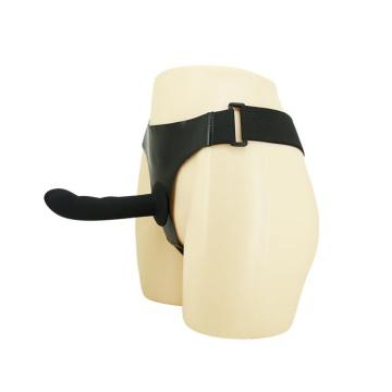 Страпон на эластичных ремнях Ultra Harness Karin Dildo - 16,8 см.