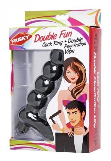 Насадка для двойного проникновения Double Fun Cock Ring with Double Penetration Vibe