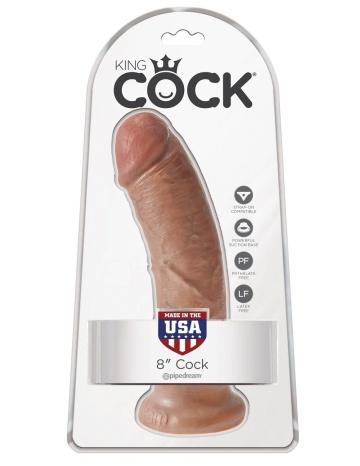 """Фаллоимитатор-мулат 8"""" Cock - 20,3 см."""