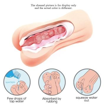 Мастурбатор-вагина с эффектом смазки