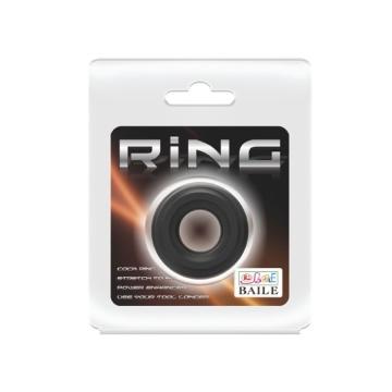 Чёрное широкое эрекционное кольцо