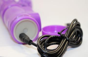 Фиолетовый виброкомпьютер с ротацией и режимом Up&Down - 23,5 см.