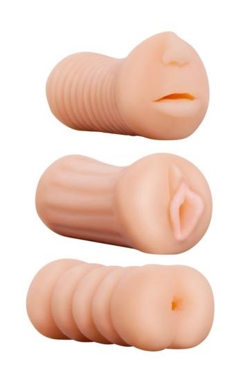 Набор из 3 мастурбаторов LIFELIKE STROKER SET