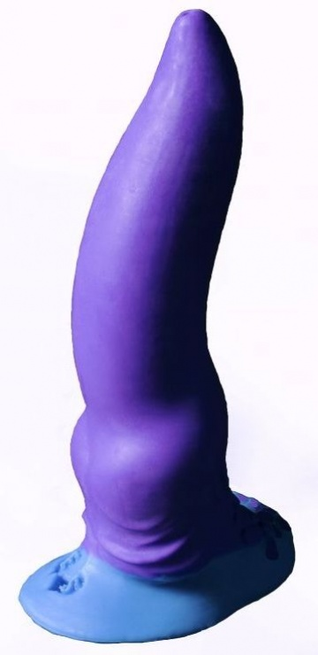 "Фиолетовый фаллоимитатор ""Зорг mini"" - 17 см."