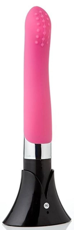Розовый вибромассажер PEARL - 20,5 см.