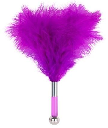 Фиолетовая метелка-пуховка с круглым наконечником FEATHER TICKLER - 24 см.