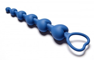 Синяя анальная цепочка Love Beam - 19 см.